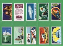 Collectable Cigarette cards set science zeppelin space rockets, Flying Ship